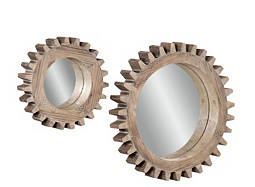 Sprockets 2-pc. Round Mirror Set
