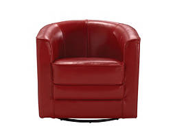 Conrad Leather Swivel Accent Chair