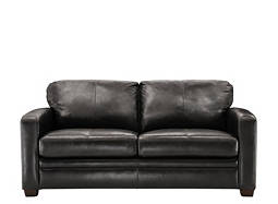 Trent Leather Full Sleeper Sofa