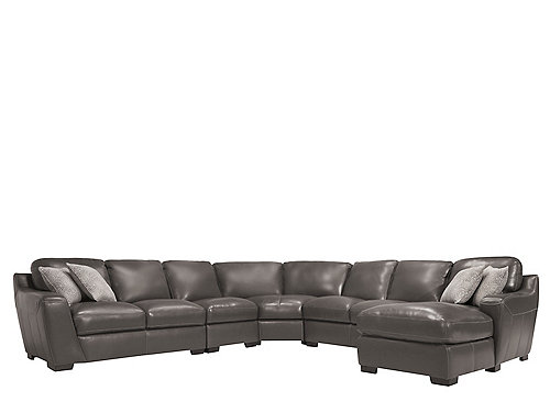 Carpenter 5 Pc Leather Sectional Sofa Sectional Sofas Raymour And Flanigan Furniture