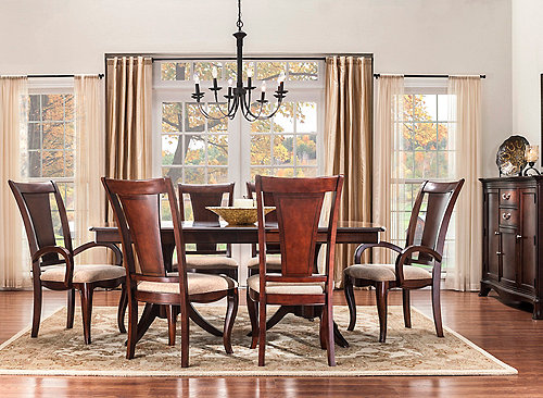 keira 7 pc dining set dining sets raymour and flanigan furniture
