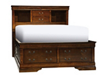Bordeaux Full Platform Storage Bed