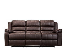 Hayes Bonded-Leather Reclining Sofa