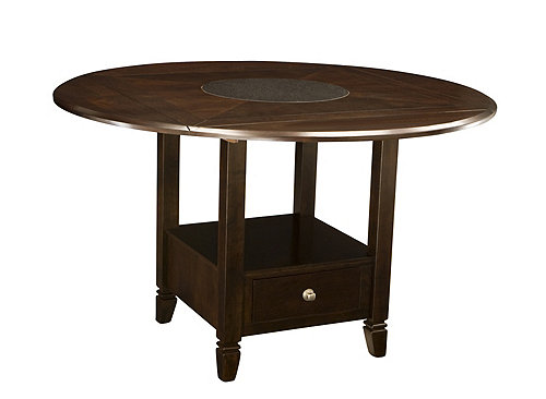pc. Drop-Leaf Counter-Height Dining Table w/ Storage Dining Tables ...