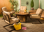 Cambria 5-pc. Outdoor Fire Pit Chat Set