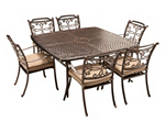 Cambria 7-pc. Square Outdoor Dining Set w/ 6 Armchairs