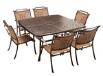 Cambria 7-pc. Square Dining Set w/ 6 Sling Chairs