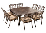 Cambria 9-pc. Square Outdoor Dining Set w/ 8 Armchairs
