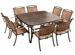Cambria 9-pc. Square Outdoor Dining Set w/ 8 Sling Chairs