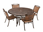 Cambria 5-pc. Round Outdoor Dining Set w/ 4 Sling Chairs