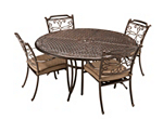 Cambria 5-pc. Round Outdoor Dining Set w/ 4 Armchairs