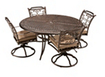 Cambria 5-pc. Round Outdoor Dining Set w/ 4 Swivel Rockers