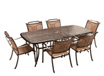Cambria 7-pc. Rectangular Outdoor Dining Set w/ 6 Sling Chairs