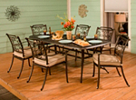 Cambria 7-pc. Rectangular Outdoor Dining Set w/ 6 Armchairs