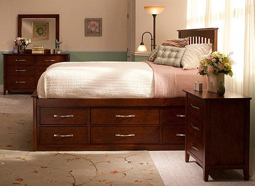 Everitt 4 Pc King Platform Bedroom Set W Storage Bed Bedroom Sets Raymour And Flanigan