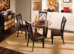 "Elation 5-pc. 42"" Glass Dining Set"