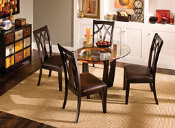 "Elation 5-pc. 48"" Glass Dining Set"