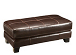 Bellini Leather Cocktail Ottoman
