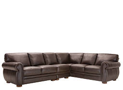 Marsala 3-pc. Leather Sectional Sofa
