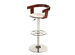 Nadie Adjustable-Height Swivel Bar Stool
