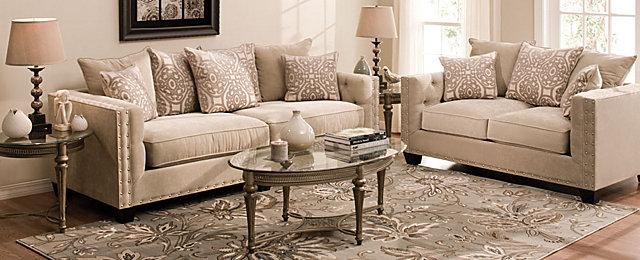 Cindy Crawford Home 174 Calista Contemporary Living Room