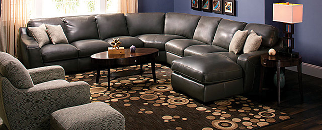 Carpenter Contemporary Leather Living Room Collection