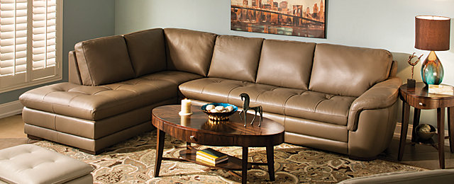 Garrison contemporary living room collection design tips for Garrison leather sectional sofa