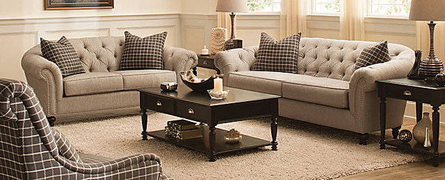 Harlow transitional living collection design tips for Transitional living room furniture ideas