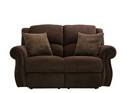 Delaney Microfiber Reclining Loveseat