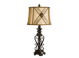 Metal Scroll Table Lamp