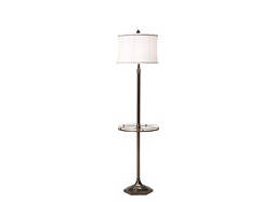 Metal Floor Lamp w/ Glass Table