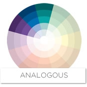 Color story decorating with blue analogous raymour - Analogous color scheme definition ...