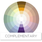 Color story decorating with gold complementary - What colors compliment purple ...