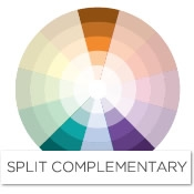Color story decorating with orange split complementary - Colors that compliment orange ...
