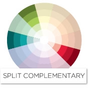 Color story decorating with red split complementary - Complementary color of pink ...