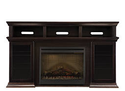 "Bennett 66"" TV Console w/ 26"" Electric Fireplace"