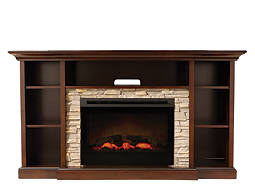 "Merrick 65"" TV Console w/ 25"" Electric Fireplace"