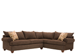 Vegas 2-pc. Microfiber Sectional Sofa