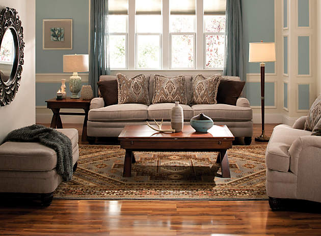 Monochromatic Taupe Living Room
