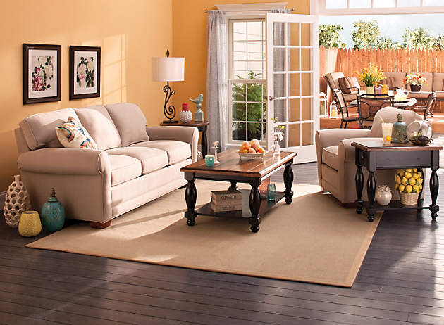 Living in the sun carefree comfort raymour and for Comfort living furniture
