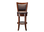 Dublin Leather Swivel Bar Stool