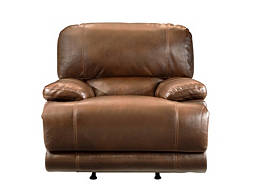 Rigley Bonded-Leather Glider Recliner