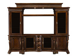 "Villa Veneto 6-pc. Wall Unit w/ 62"" TV Console and Lighting"