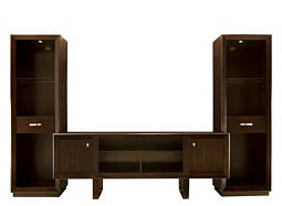 "Park Avenue 3-pc. Wall Unit w/ 81"" TV Console and Lighting"