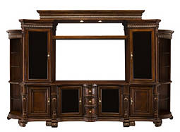 "Villa Veneto 8-pc. Wall Unit w/ 62"" TV Console and Lighting"