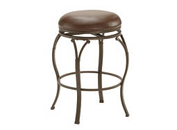 Lakeview Leather Swivel Counter Stool