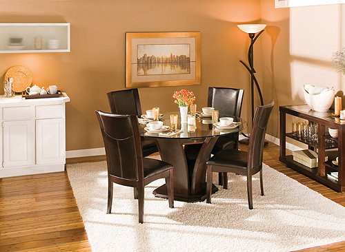 54 glass dining set dining sets raymour and flanigan furniture