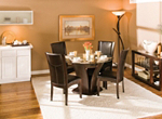 "Venice 5-pc. 48"" Glass Dining Set"