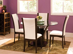 "Venice 5-pc. 54"" Glass Dining Set"