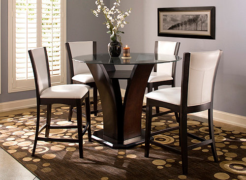 Venice 5 Pc 54 Quot Glass Counter Height Dining Set Dining